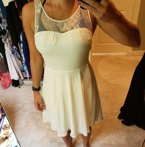 Euc Express White Dress with lace size 2